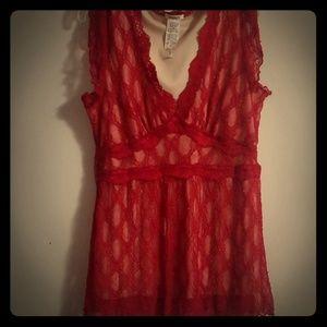 Cute red dress shirt